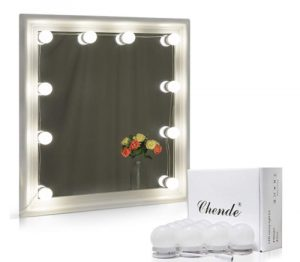 Chende Hollywood Style LED Vanity Mirror Lights Kit with Dimmable Light Bulbs, L