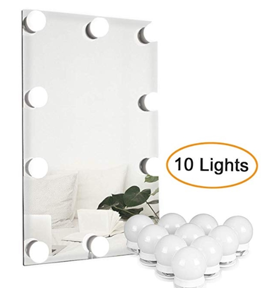 Waneway Hollywood Style LED Vanity Mirror Lights Kit for Makeup Dressing Table V