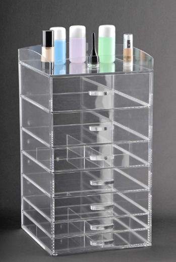 ACRYLIC COSMETIC CUBE ORGANIZER MAKEUP CASE 7-DRAWER (A7)_ Home & Ki