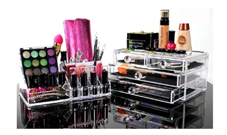 Best Acrylic Makeup Organizer For BEAUTIFUL Cosmetic Storage - 2 Pie