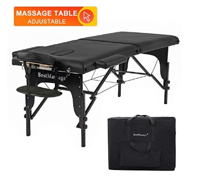 BestMassage 73_ PU Portable 2_ Padding Folding Massage Table w_Free