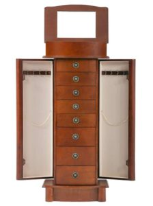BestMassage Jewelry Cabinet Jewelry Chest Jewelry Armoire Wood Jewel