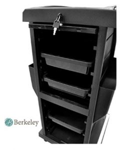 Claire Lockable Salon Trolley Cart Perfect for Hair Salon,Tattoo Stu