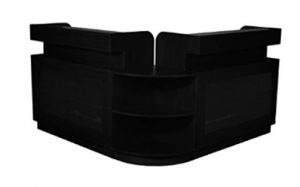 Falini Salon Reception Desk - Black_ Beauty