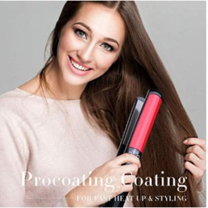 Flat Iron for Hair Ceramic Professional, Titanium Plates Hair Strai