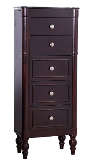 Hives & Honey Ella Espresso Jewelry Cabinet Armoire Box Storage Ches