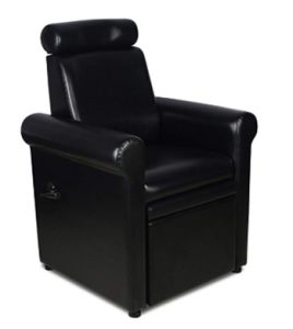 Icarus_Crest_ Black Pedicure Foot Spa Station Chair_ Beauty