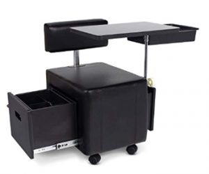 Icarus_Tazo_ Portable Black Space Saver Manicure Nail Table_ Beauty