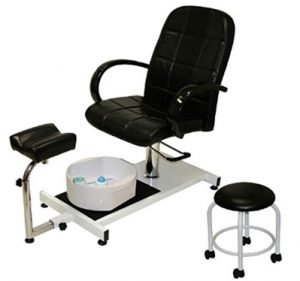 LCL Beauty Hydraulic Lift Adjustable Pedicure Unit with Easy-Clean B