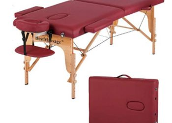 Massage Table Massage Bed Spa Bed PU Portable 84 inch 2 Fold Heigh A
