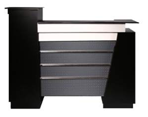 Monroe Salon Reception Desk - Black 60_ Wide_ Beauty