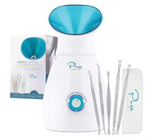 NanoSteamer - Large 3-in-1 Nano Ionic Facial Steamer with Precise Te