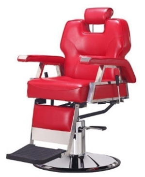 New Red Heavy Duty Hydraulic Recline Barber Chair Salon Beauty Shamp