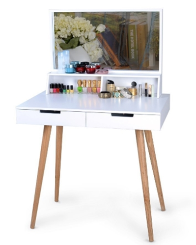 E:Rahul Ji AMAZONDobelSalon18-04-2019 PostsImagesOrganizedlife White Large Makeup Vanity Table Desk with Drawers and.jpg