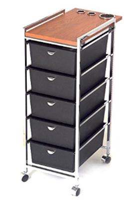 PIBBS 5 Tier Cart with ART70 Topper (Model_ D29) [Health and Beauty]