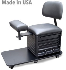 Salon Spa Pedicure Station Stool with Footrest & Back Support b
