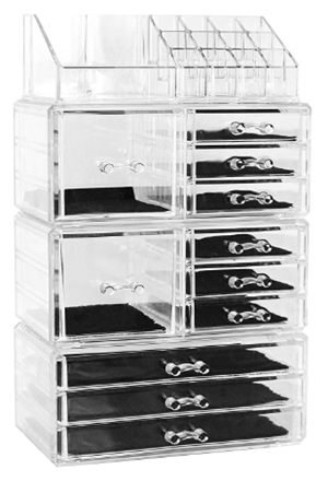 Unique Home Acrylic Jewelry and Cosmetic Storage Makeup Organizer Se